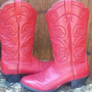 Authentic Ariat Red Cowgirl Boots
